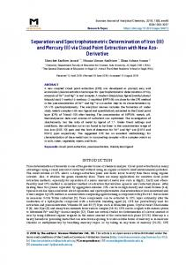 Separation and Spectrophotometric Determination of