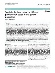 Sepsis in the burn patient - BioMed Central