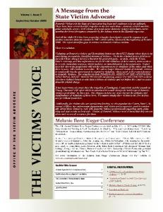 September/October 2009 - 3rd Edition of The Victims' Voice - CT.gov