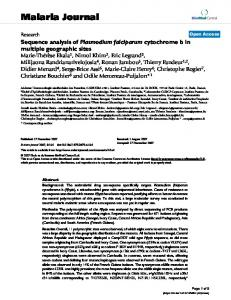 Sequence analysis of Plasmodium falciparum cytochrome b in ...