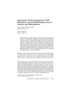 Sequencing and Its Consequences: Path ... - Semantic Scholar