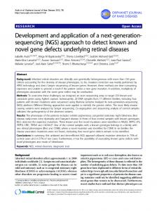 sequencing (NGS) - BioMedSearch