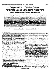 Sequential and parallel cellular automata-based ... - Semantic Scholar