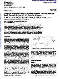 Sequential coupling/desilylation–coupling/cyclization ...