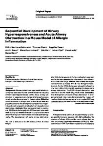 Sequential Development of Airway Hyperresponsiveness and Acute ...
