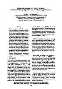 Sequential Labeling with Latent Variables: An ... - Semantic Scholar