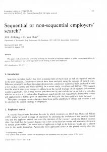 Sequential or non-sequential employers - Core