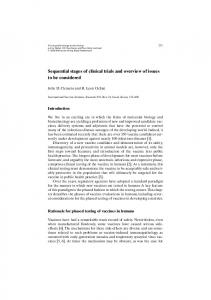 Sequential stages of clinical trials and overview of ... - Springer Link