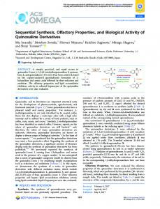 Sequential Synthesis, Olfactory Properties, and ... - ACS Publications