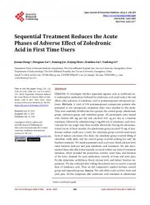 Sequential Treatment Reduces the Acute Phases of Adverse Effect of ...