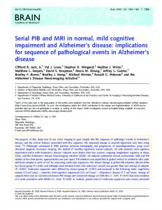 Serial PIB and MRI in normal, mild cognitive ... - BioMedSearch