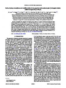 Series of phase transitions and multiferroicity in ... - APS Link Manager