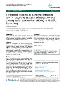Serological response to pandemic influenza A/H1N1 ... - Springer Link