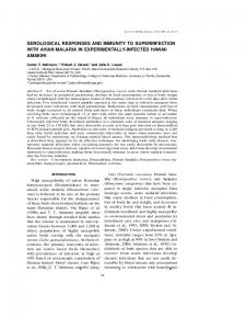 serological responses and immunity to superinfection with ... - BioOne