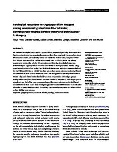Serological responses to Cryptosporidium antigens among women ...