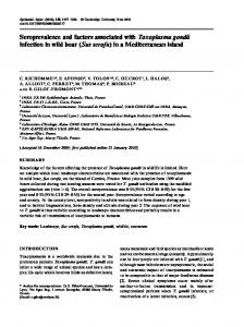 Seroprevalence and factors associated with Toxoplasma gondii ...