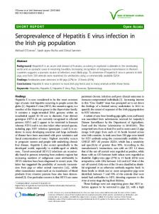 Seroprevalence of Hepatitis E virus infection in the ... - Semantic Scholar