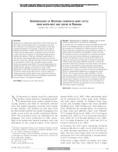 Seroprevalence of Neospora caninum in dairy cattle ... - BioMedSearch