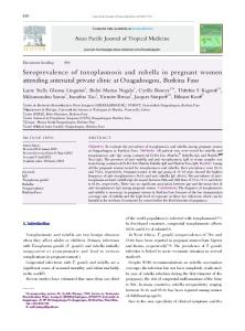 Seroprevalence of toxoplasmosis and rubella in pregnant ... - CORE