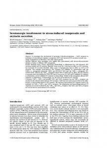 Serotonergic involvement in stress-induced vasopressin ... - CiteSeerX
