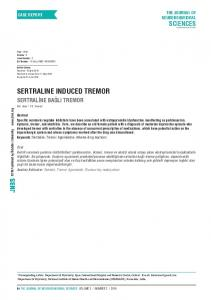sertraline induced tremor - eJManager