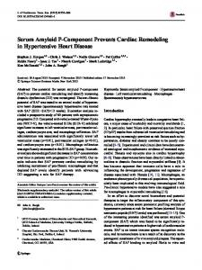 Serum Amyloid P-Component Prevents Cardiac Remodeling in ...