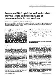 Serum and BAL cytokine and antioxidant enzyme ... - SAGE Journals