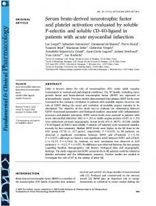 Serum brainderived neurotrophic factor and ... - Wiley Online Library