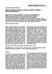 Serum carotenoids and vitamins in relation to markers ... - Springer Link