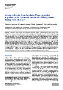 Serum cathepsin K and cystatin C concentration in ... - Semantic Scholar