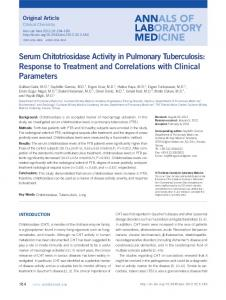 Serum Chitotriosidase Activity in Pulmonary