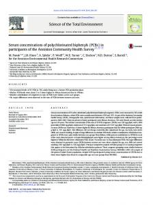 Serum concentrations of polychlorinated biphenyls