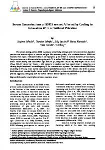 Serum Concentrations of S100B are not Affected by Cycling to ...