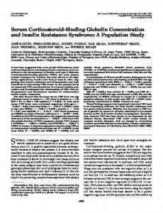 Serum Corticosteroid-Binding Globulin Concentration and Insulin ...
