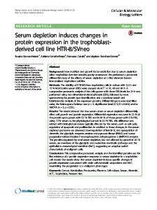 Serum depletion induces changes in protein expression in the ...