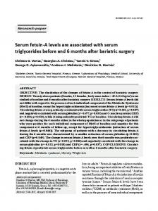 Serum fetuin-A levels are associated with serum ... - Hormones.gr