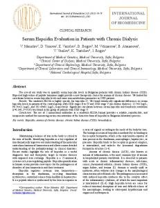 Serum Hepcidin Evaluation in Patients with Chronic Dialysis