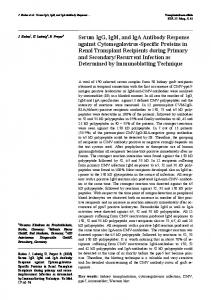 Serum IgG, IgM, and IgA Antibody Response ... - Transplantation.de