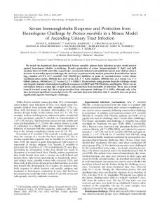 Serum Immunoglobulin Response and ... - Infection and Immunity