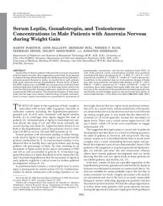 Serum Leptin, Gonadotropin, and Testosterone Concentrations in ...