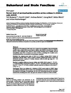 Serum level of semicarbazide-sensitive amine oxidase in children with ...