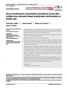Serum levetiracetam concentrations and ... - Wiley Online Library