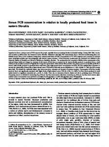 Serum PCB concentrations in relation to locally produced ... - ICTS | UCI