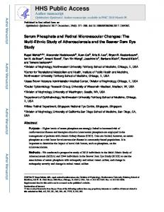 Serum Phosphate and Retinal Microvascular Changes