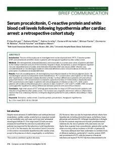 Serum procalcitonin, C-reactive protein and white blood cell levels ...