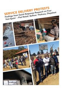 service delivery protests - University of Johannesburg