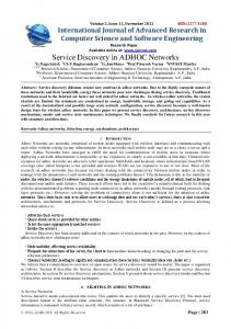 Service Discovery in ADHOC Networks - IJARCSSE