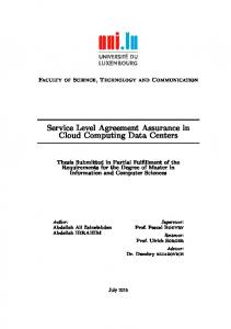 Service Level Agreement Assurance Between Cloud Services