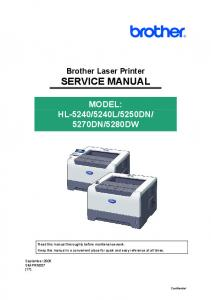 SERVICE MANUAL - Brother Support