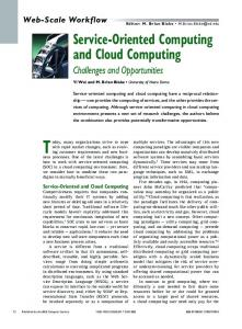 Service-Oriented Computing and Cloud Computing: Challenges and ...